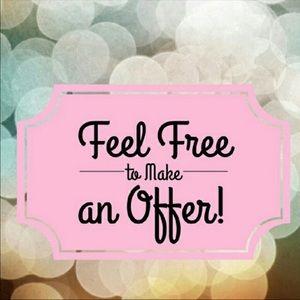 Always open to reasonable offers!